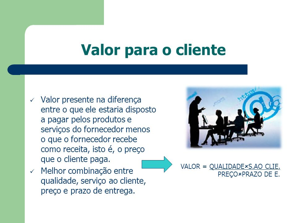 Valor para o cliente