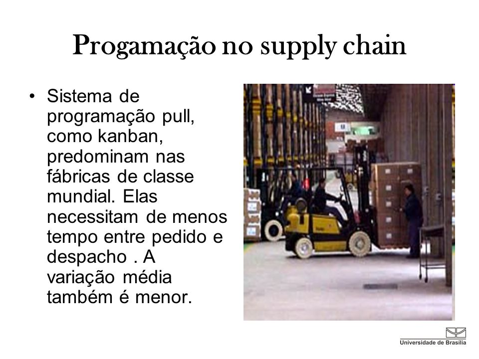 Progamação no supply chain