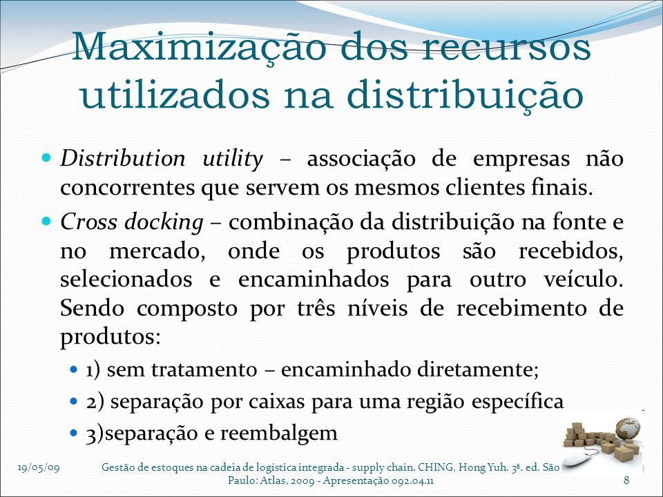 Maximização dos recursos utilizados na distribuição