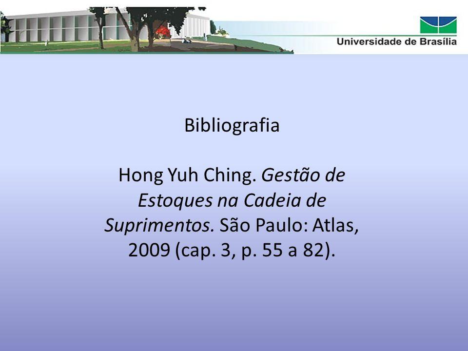 Bibliografia Hong Yuh Ching. Gestão de Estoques na Cadeia de Suprimentos.