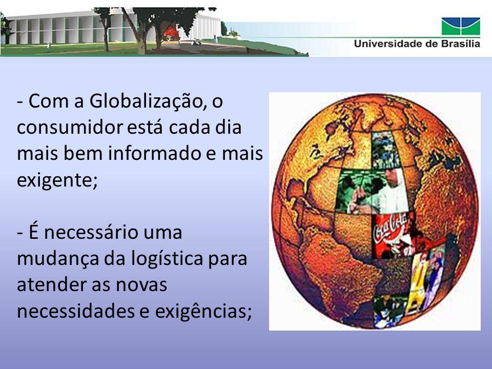 Com a Globalização, o consumidor está cada dia mais bem informado e mais exigente;