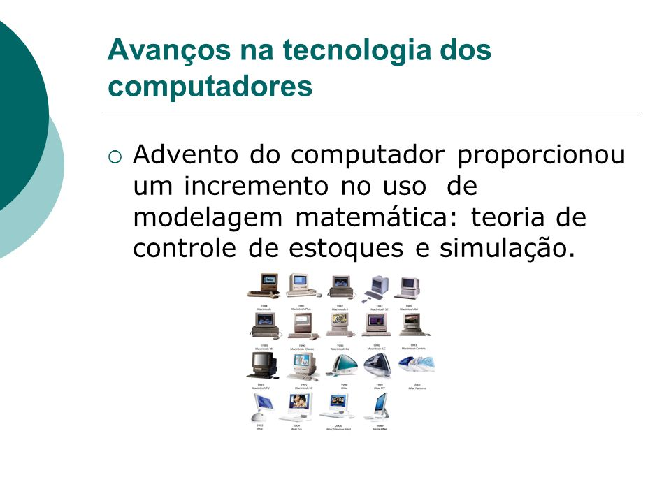 Avanços na tecnologia dos computadores