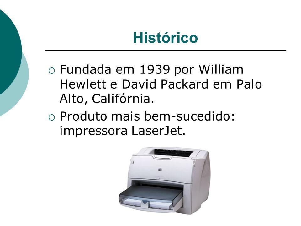 Histórico Fundada em 1939 por William Hewlett e David Packard em Palo Alto, Califórnia.