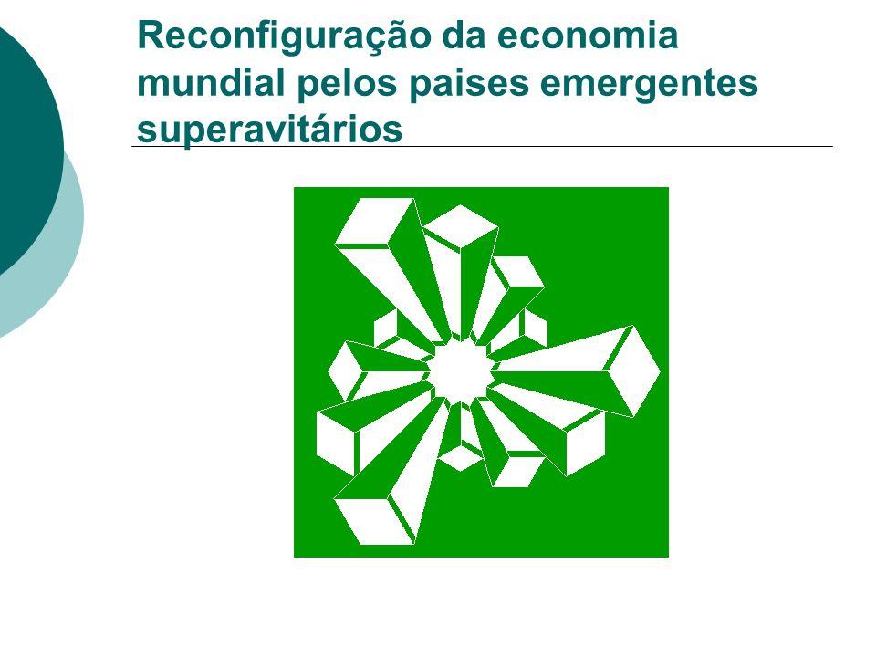 Reconfiguração da economia mundial pelos paises emergentes superavitários