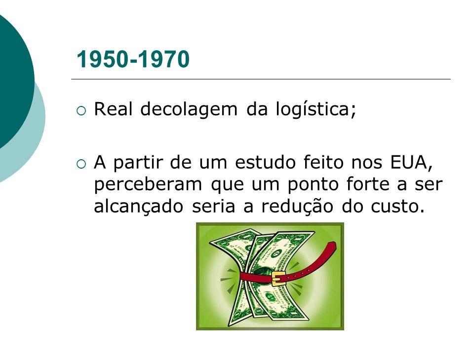 1950-1970 Real decolagem da logística;