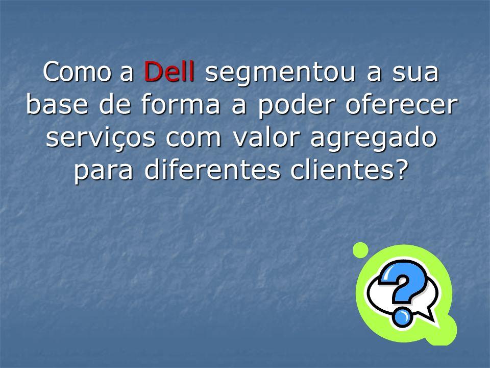 Como a Dell segmentou a sua base de forma a poder oferecer serviços com valor agregado para diferentes clientes