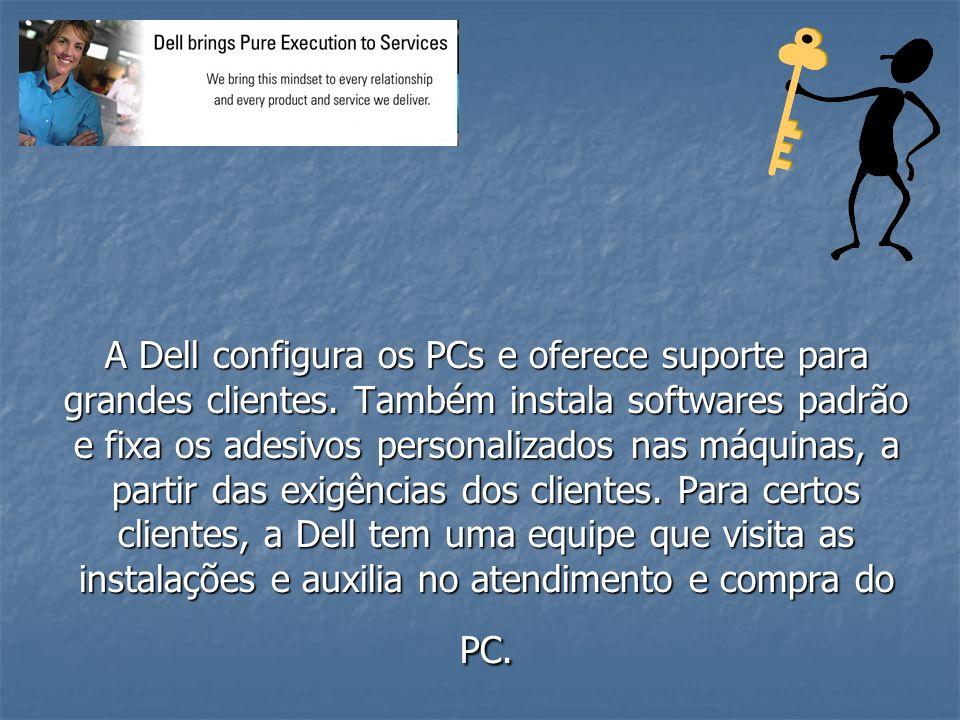 A Dell configura os PCs e oferece suporte para grandes clientes