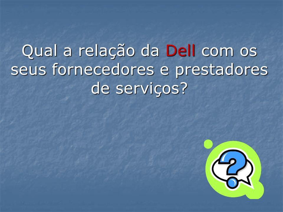 Qual a relação da Dell com os seus fornecedores e prestadores de serviços