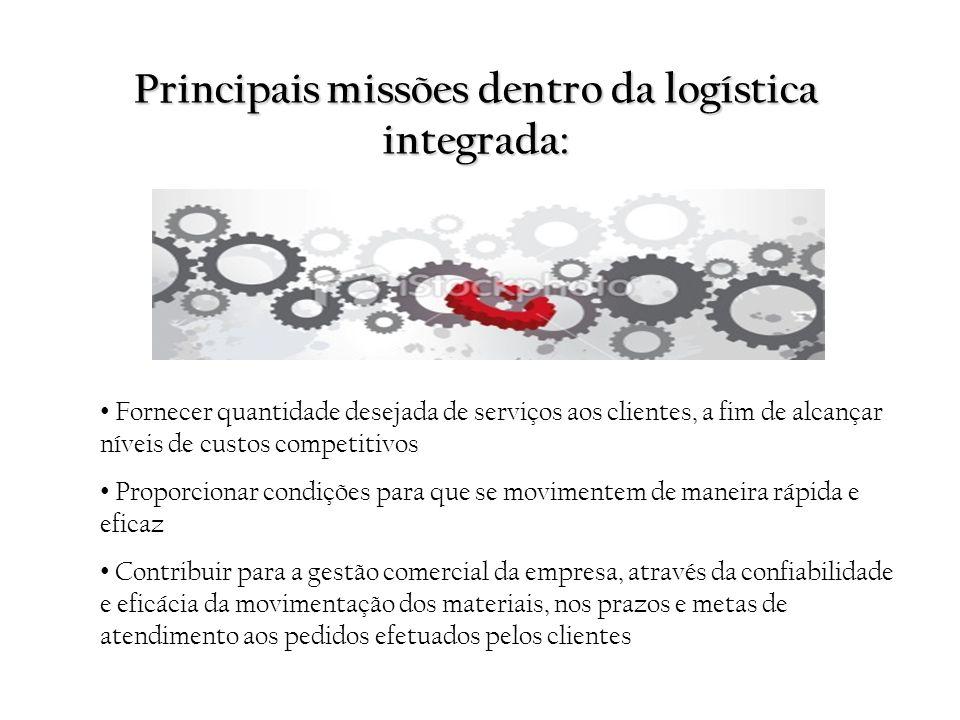 Principais missões dentro da logística integrada: