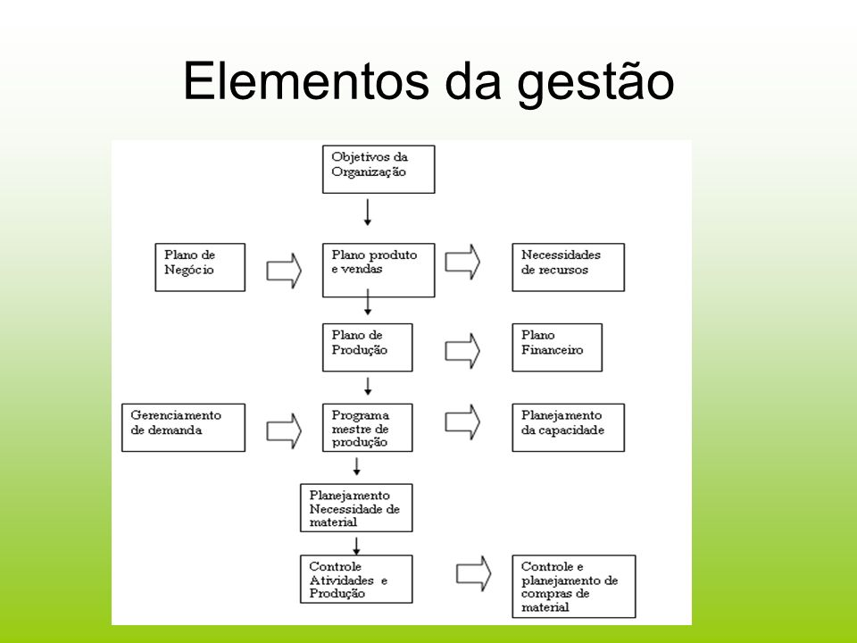 Elementos da gestão