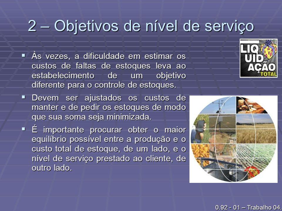 2 – Objetivos de nível de serviço