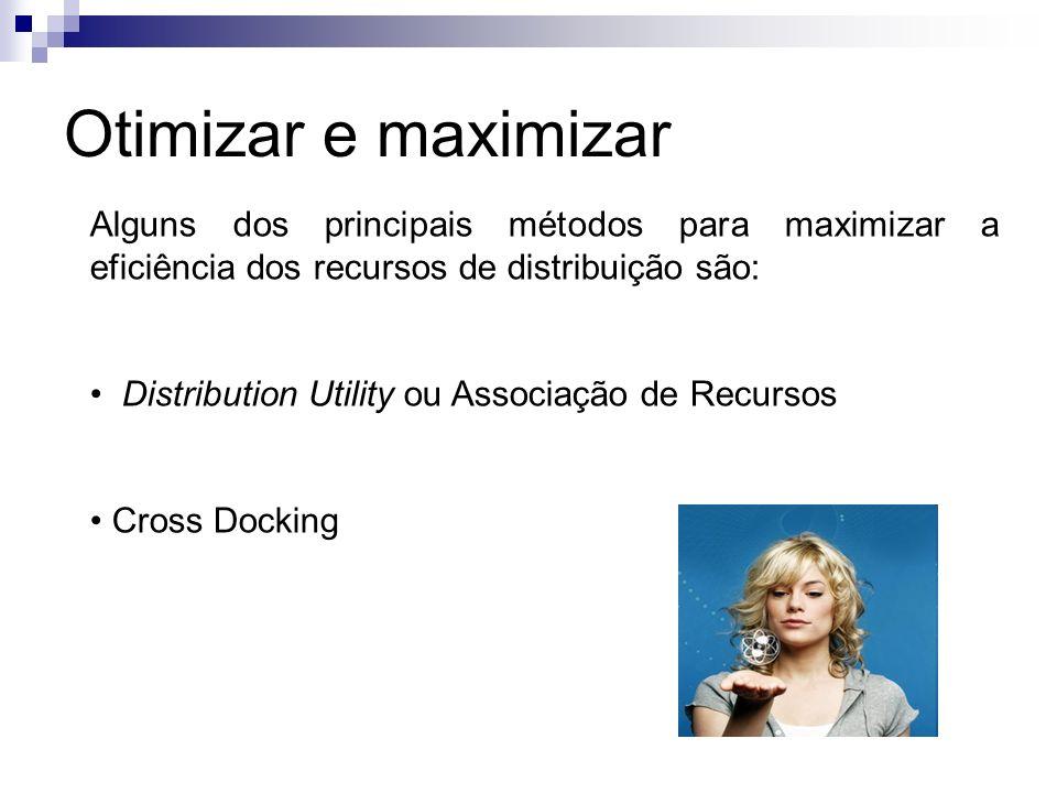 Otimizar e maximizar Alguns dos principais métodos para maximizar a eficiência dos recursos de distribuição são: