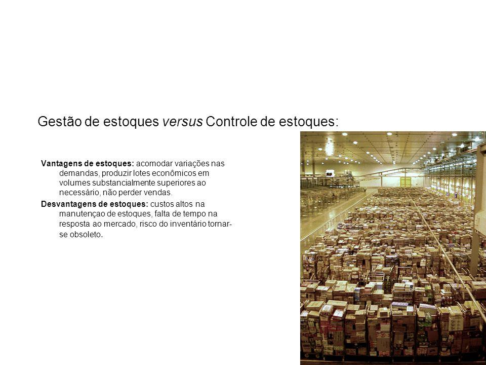 Gestão de estoques versus Controle de estoques: