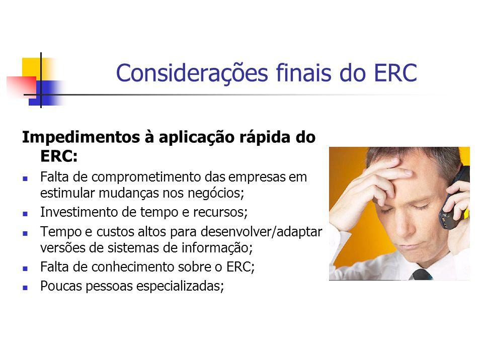 Considerações finais do ERC