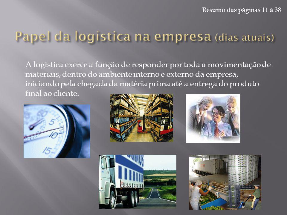 Papel da logística na empresa (dias atuais)