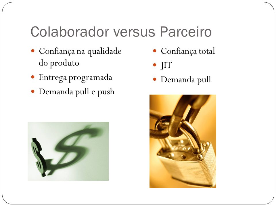 Colaborador versus Parceiro