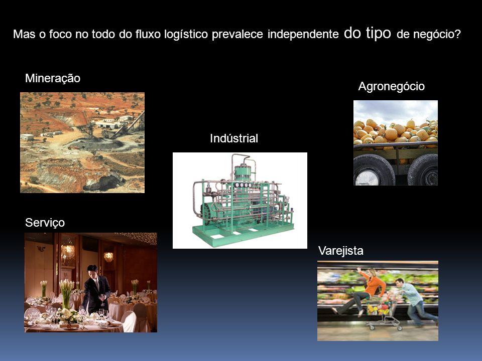 Mas o foco no todo do fluxo logístico prevalece independente do tipo de negócio