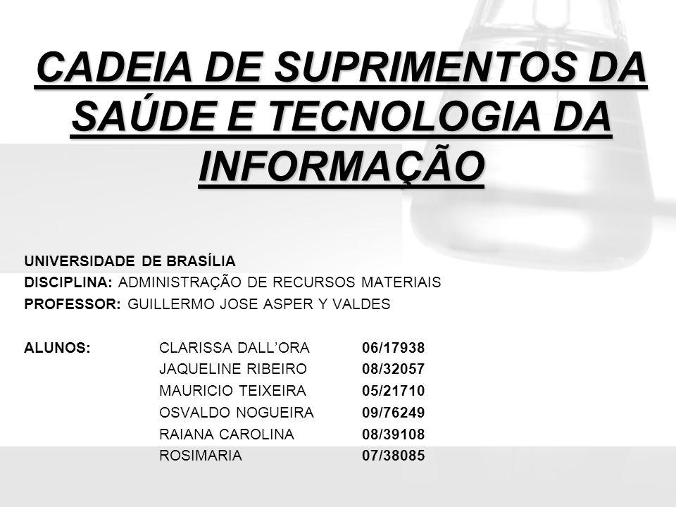 CADEIA DE SUPRIMENTOS DA SAÚDE E TECNOLOGIA DA INFORMAÇÃO