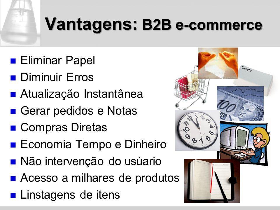 Vantagens: B2B e-commerce