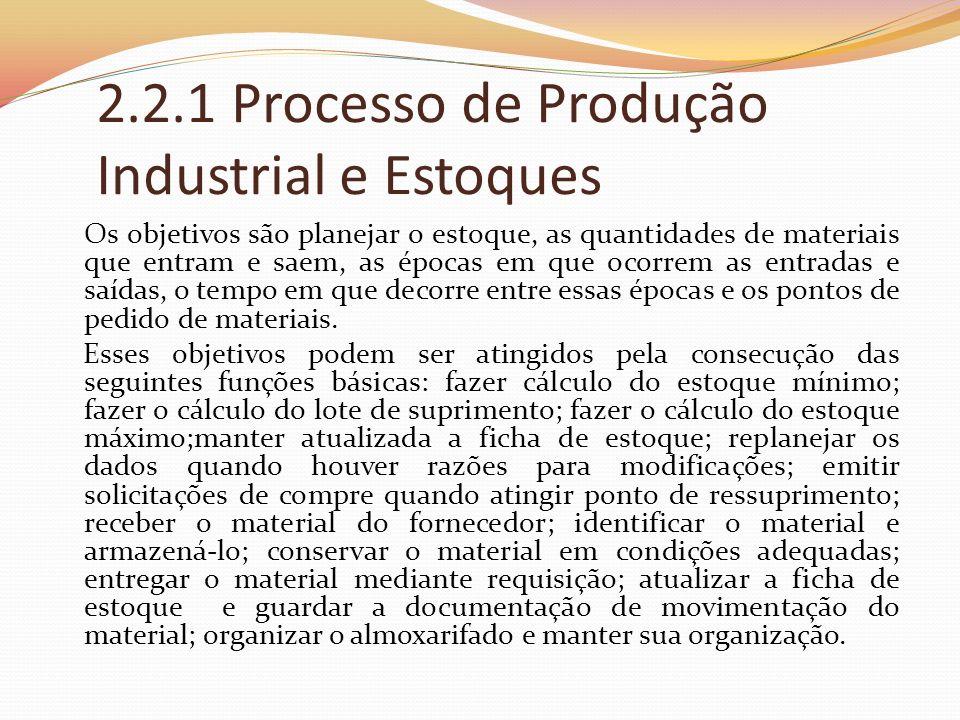 2.2.1 Processo de Produção Industrial e Estoques