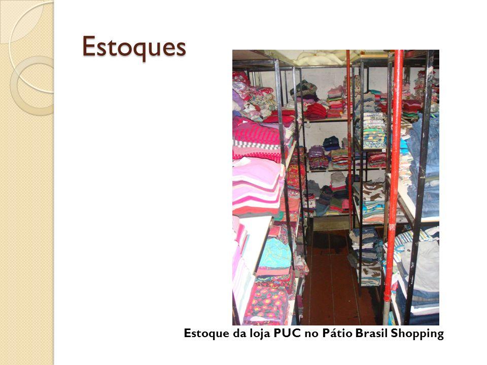 Estoques Estoque da loja PUC no Pátio Brasil Shopping