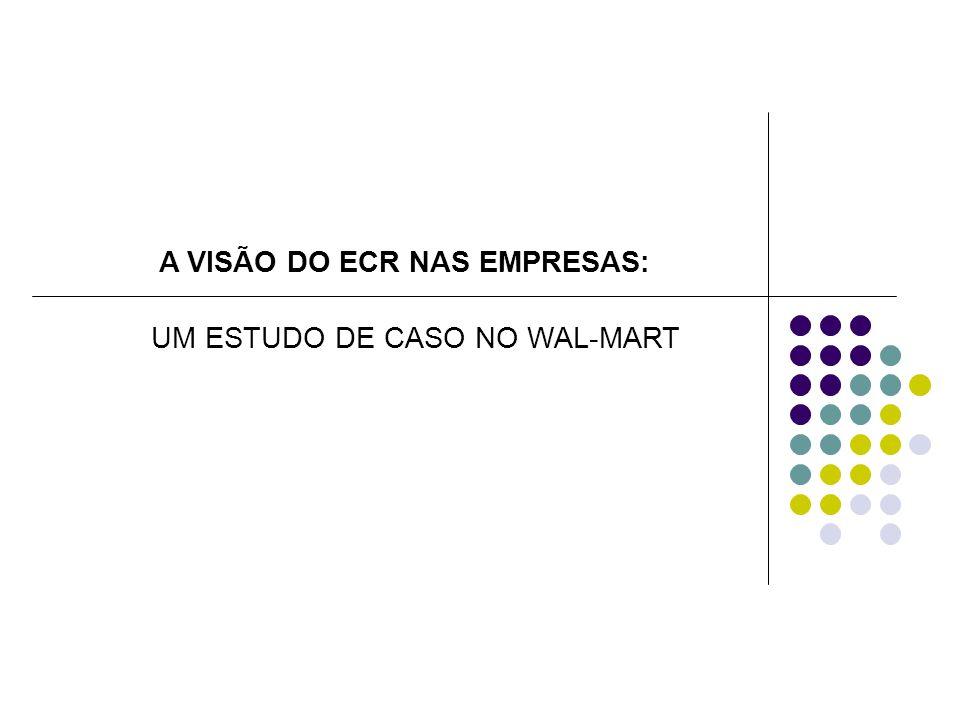 A VISÃO DO ECR NAS EMPRESAS: