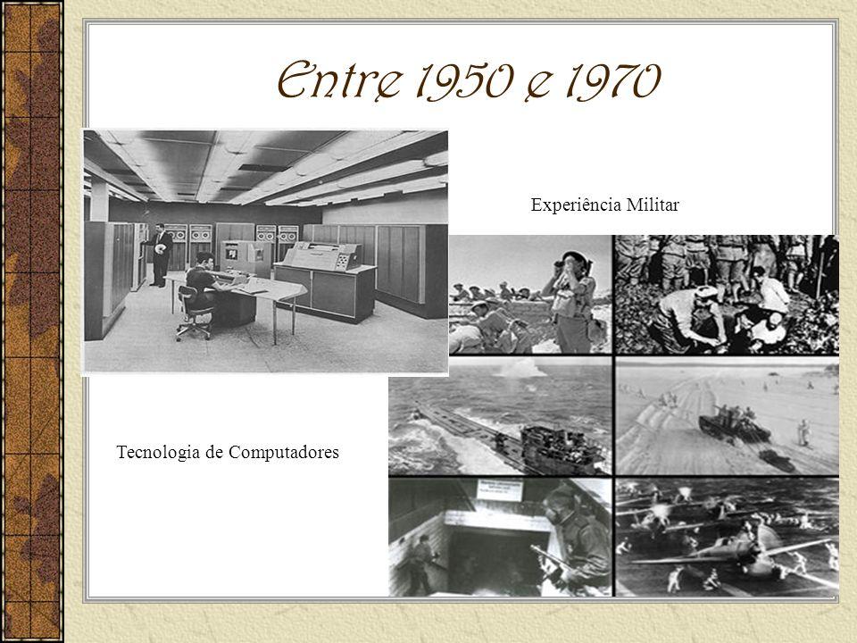 Entre 1950 e 1970 Experiência Militar Tecnologia de Computadores