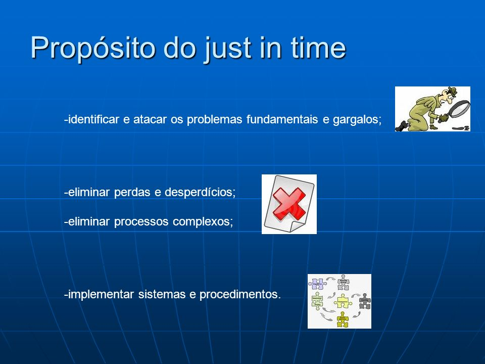 Propósito do just in time