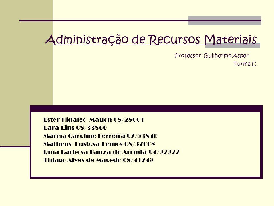 Administração de Recursos Materiais Professor: Guilhermo Asper Turma C