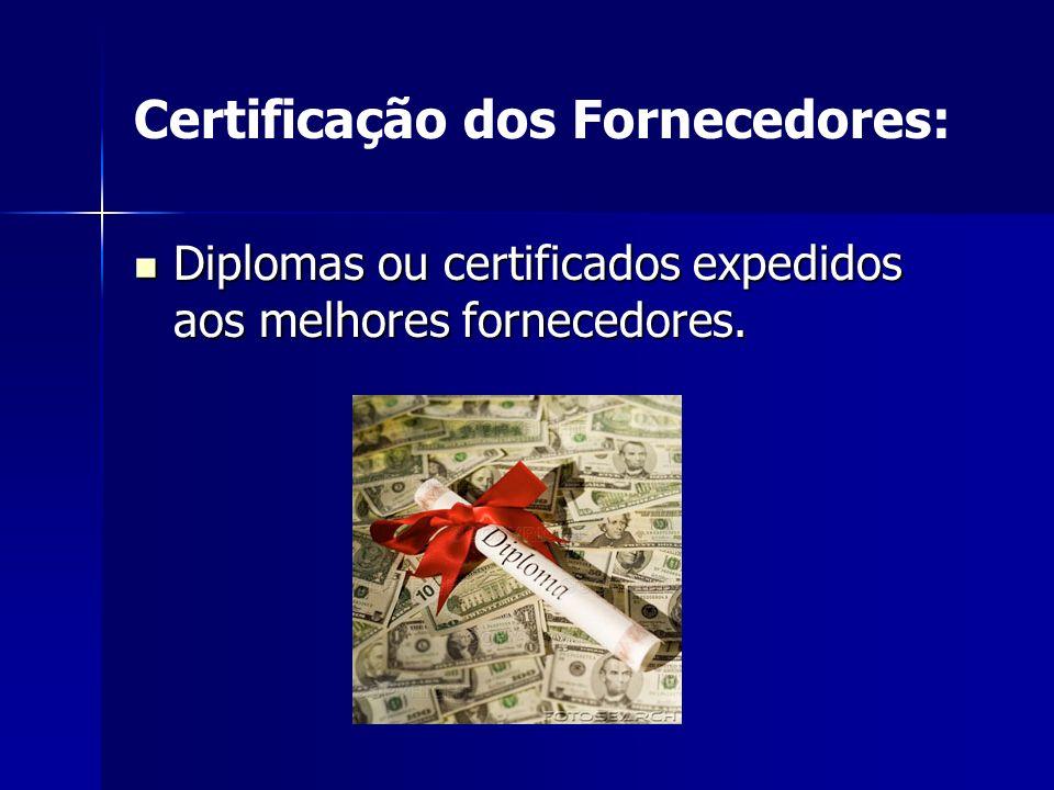 Certificação dos Fornecedores: