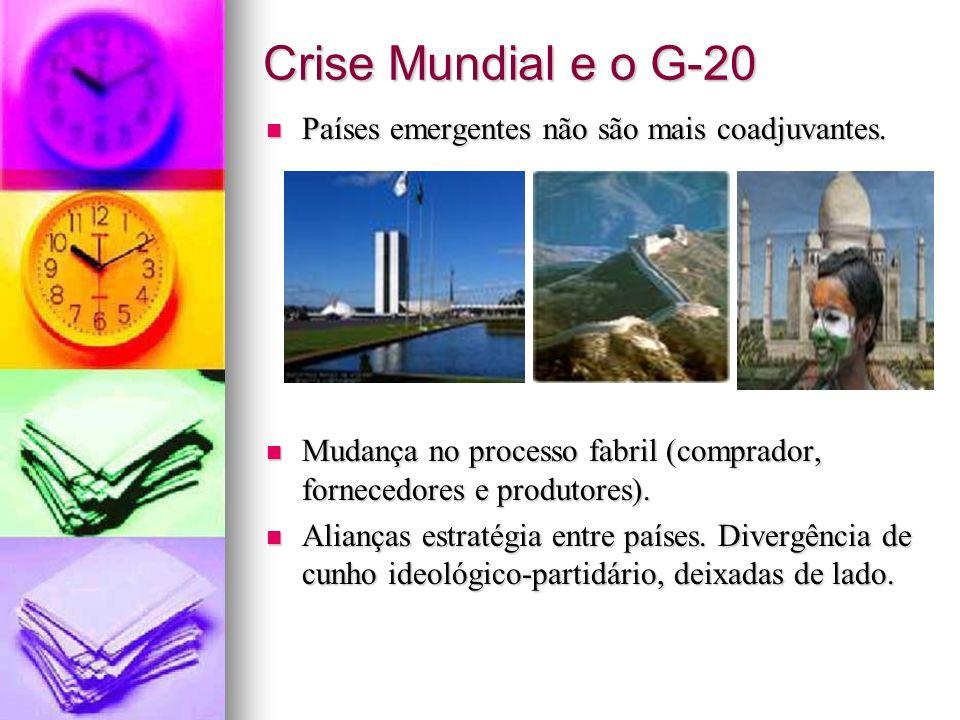 Crise Mundial e o G-20 Países emergentes não são mais coadjuvantes.