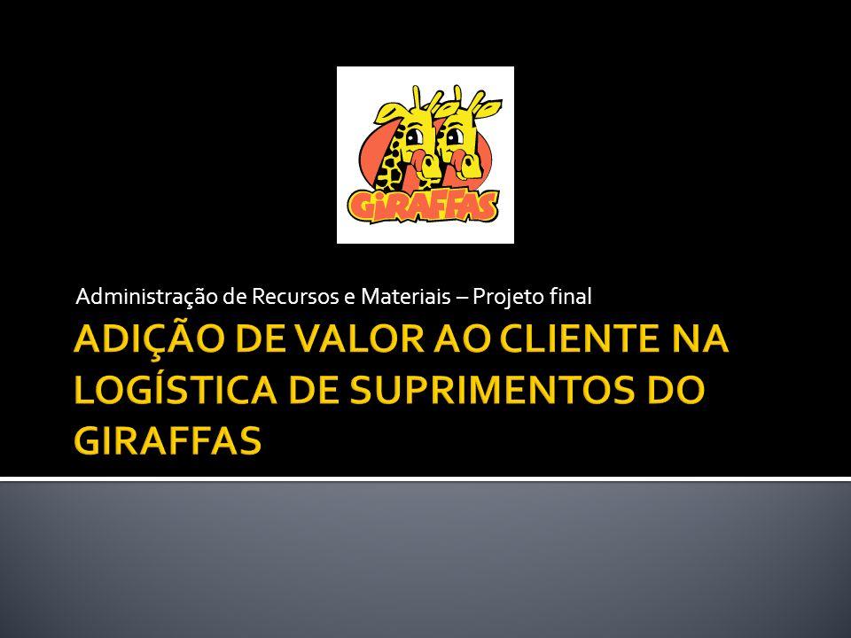ADIÇÃO DE VALOR AO CLIENTE NA LOGÍSTICA DE SUPRIMENTOS DO GIRAFFAS