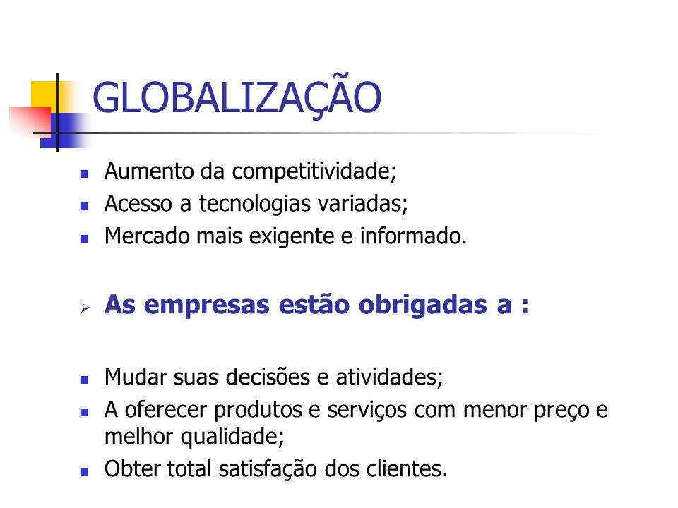 GLOBALIZAÇÃO As empresas estão obrigadas a :