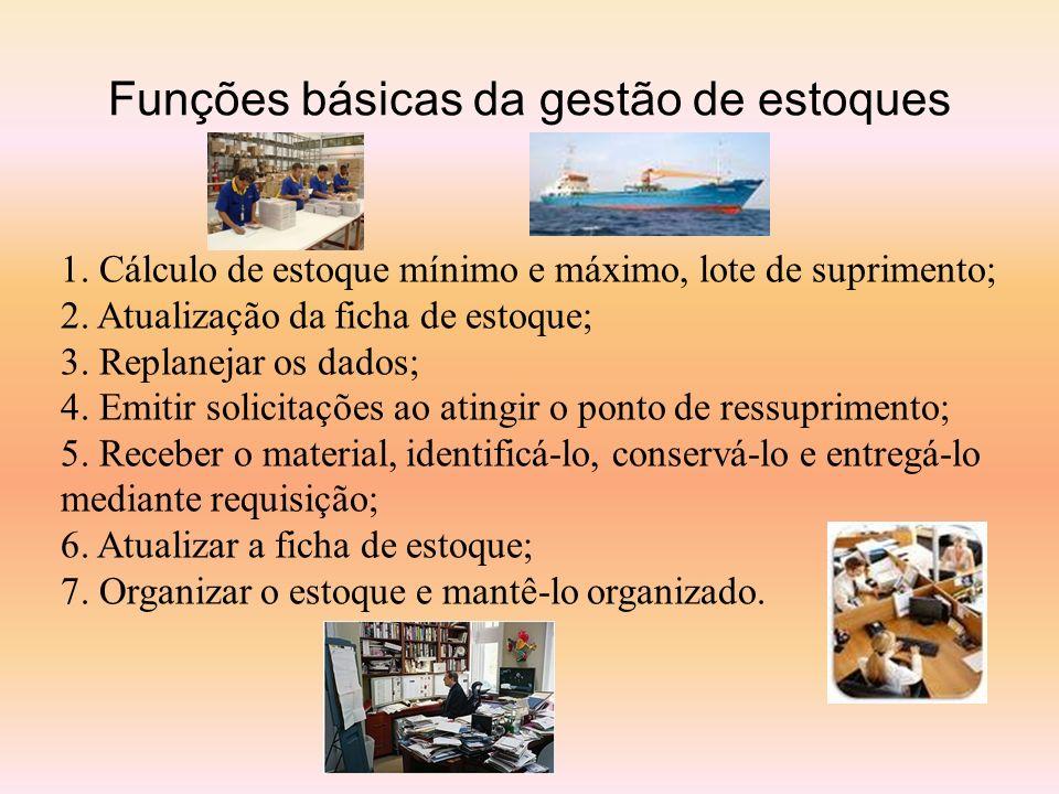 Funções básicas da gestão de estoques