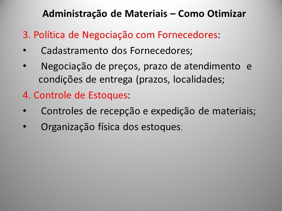Administração de Materiais – Como Otimizar