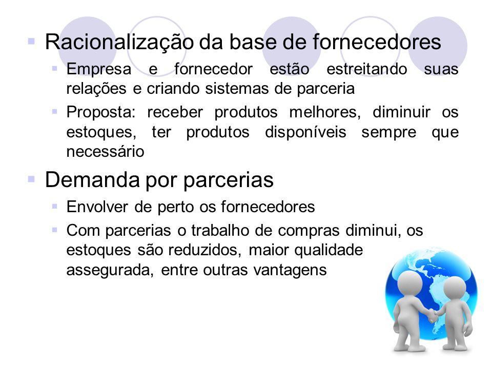 Racionalização da base de fornecedores