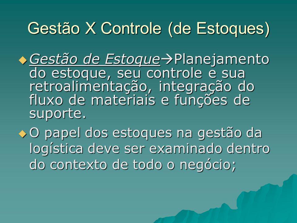 Gestão X Controle (de Estoques)