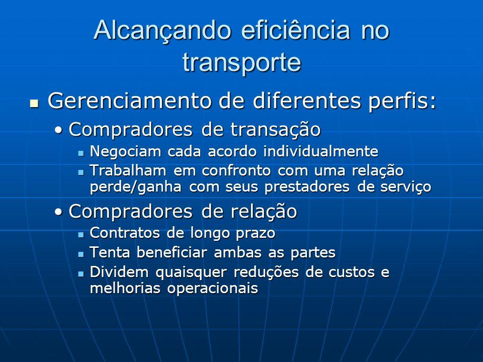 Alcançando eficiência no transporte