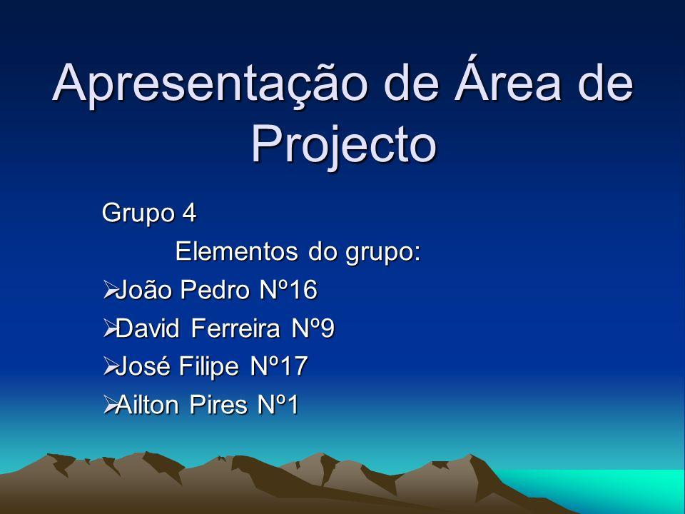 Apresentação de Área de Projecto