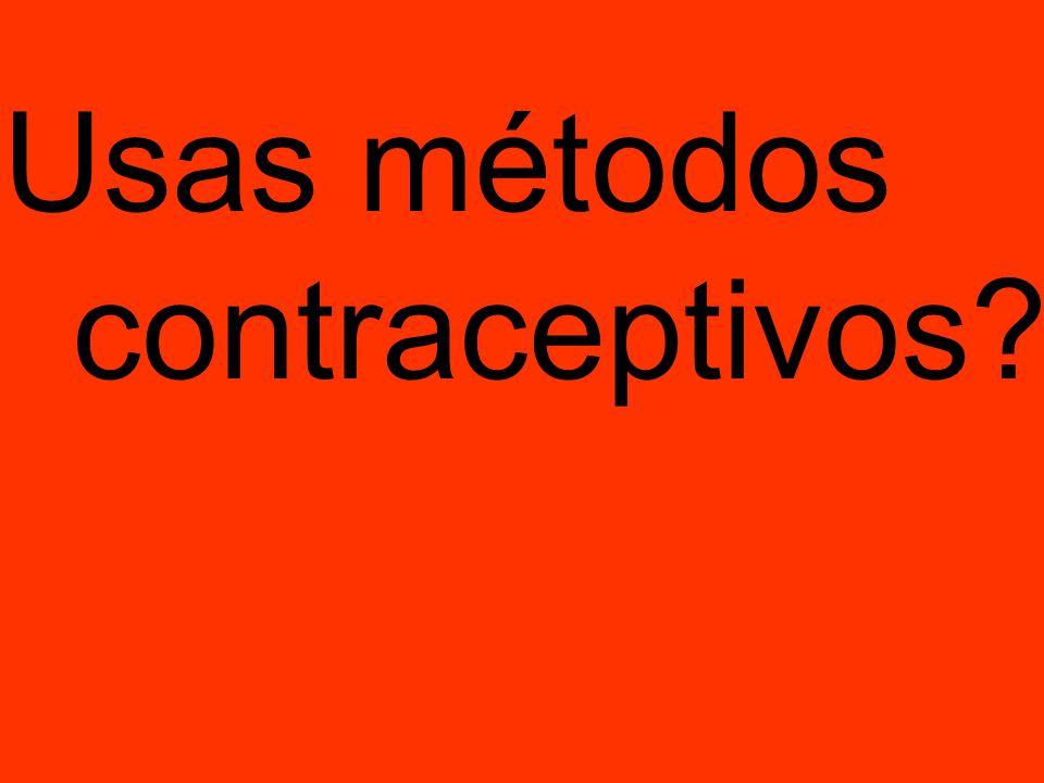 Usas métodos contraceptivos