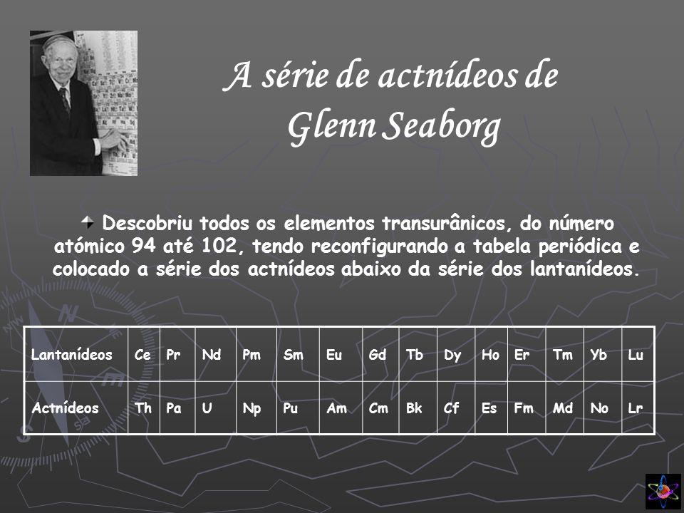A série de actnídeos de Glenn Seaborg