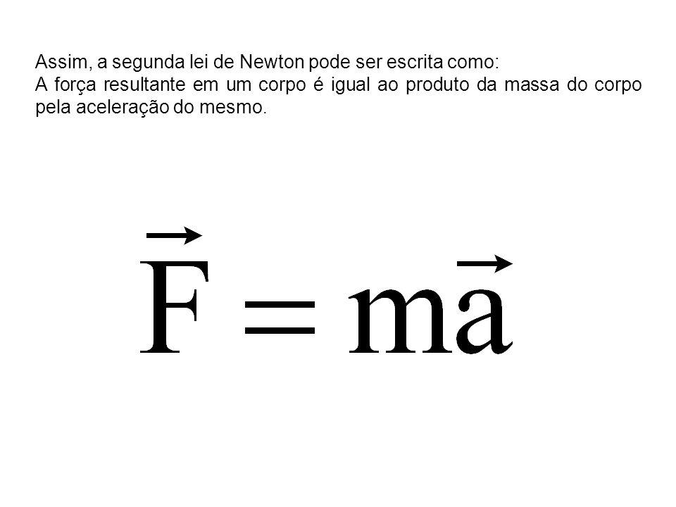 Assim, a segunda lei de Newton pode ser escrita como: