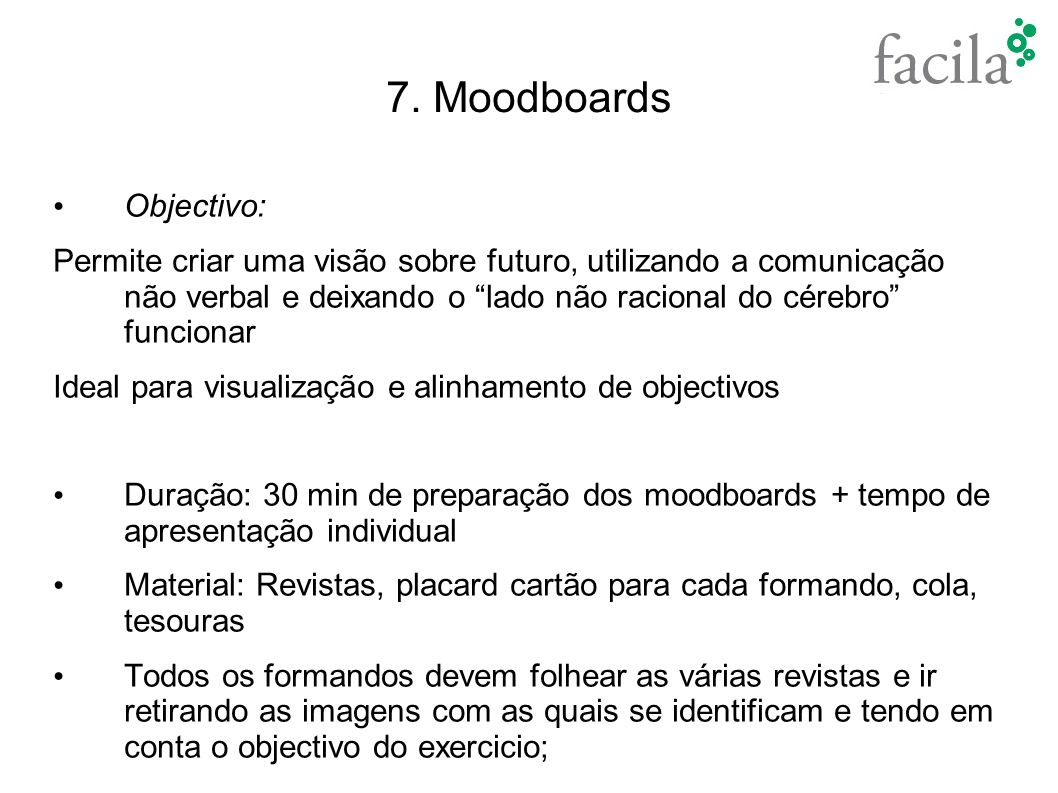 7. Moodboards Objectivo: