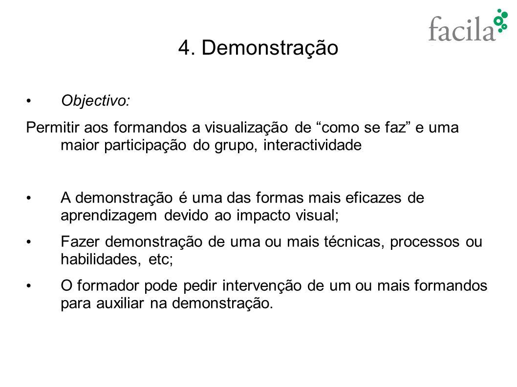 4. Demonstração Objectivo:
