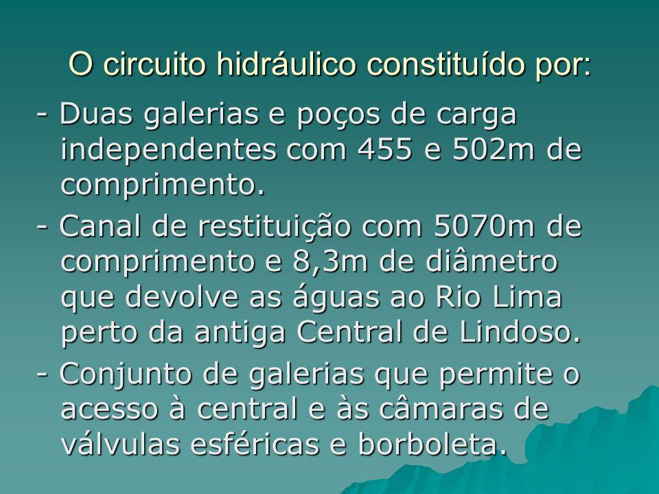 O circuito hidráulico constituído por: