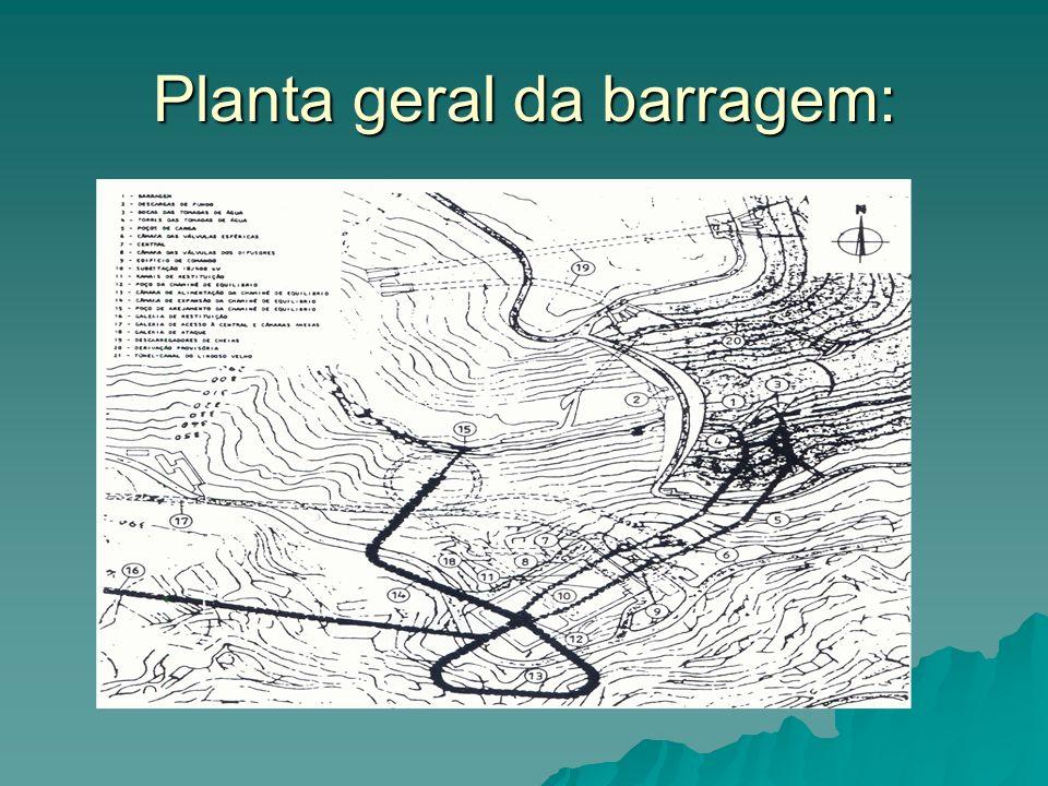 Planta geral da barragem: