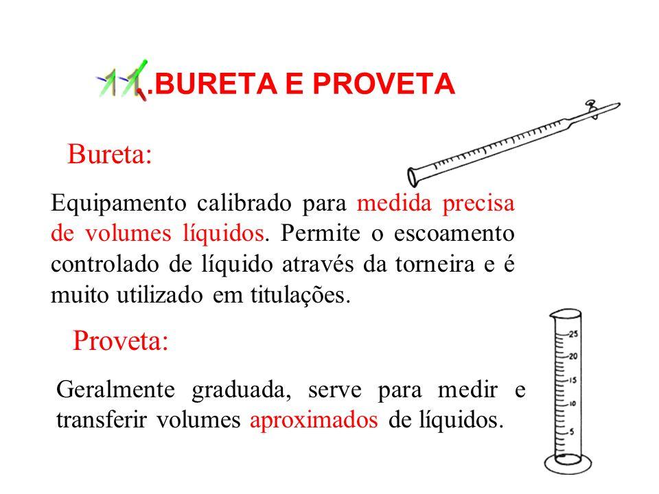 11 .BURETA E PROVETA Bureta: