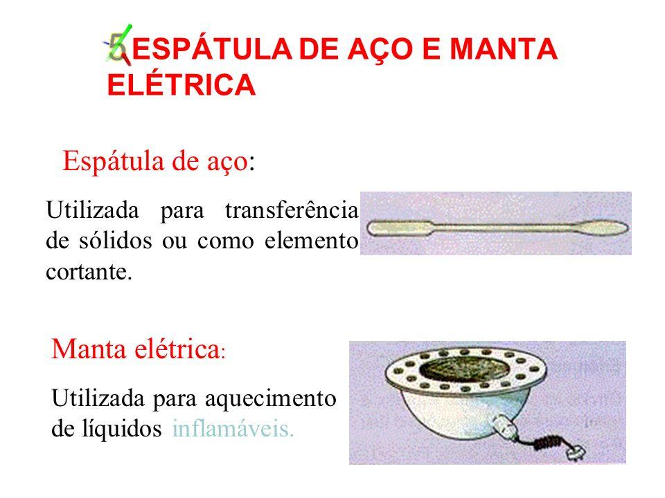 5.ESPÁTULA DE AÇO E MANTA ELÉTRICA