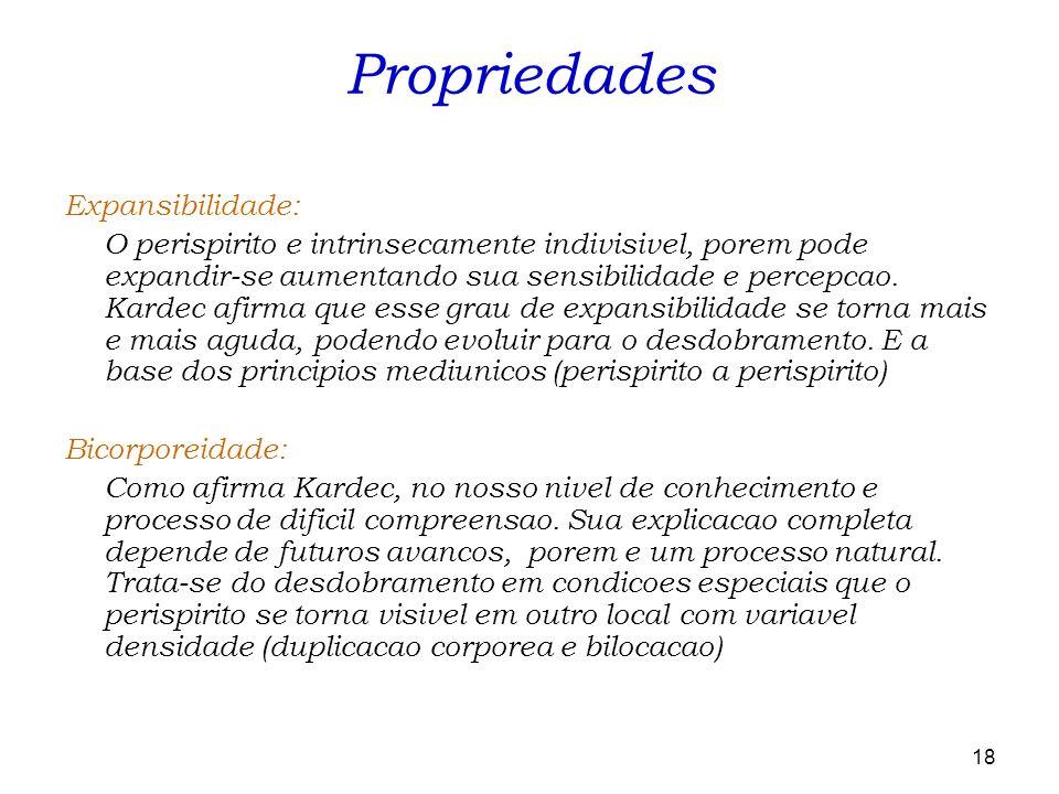 Propriedades Expansibilidade: