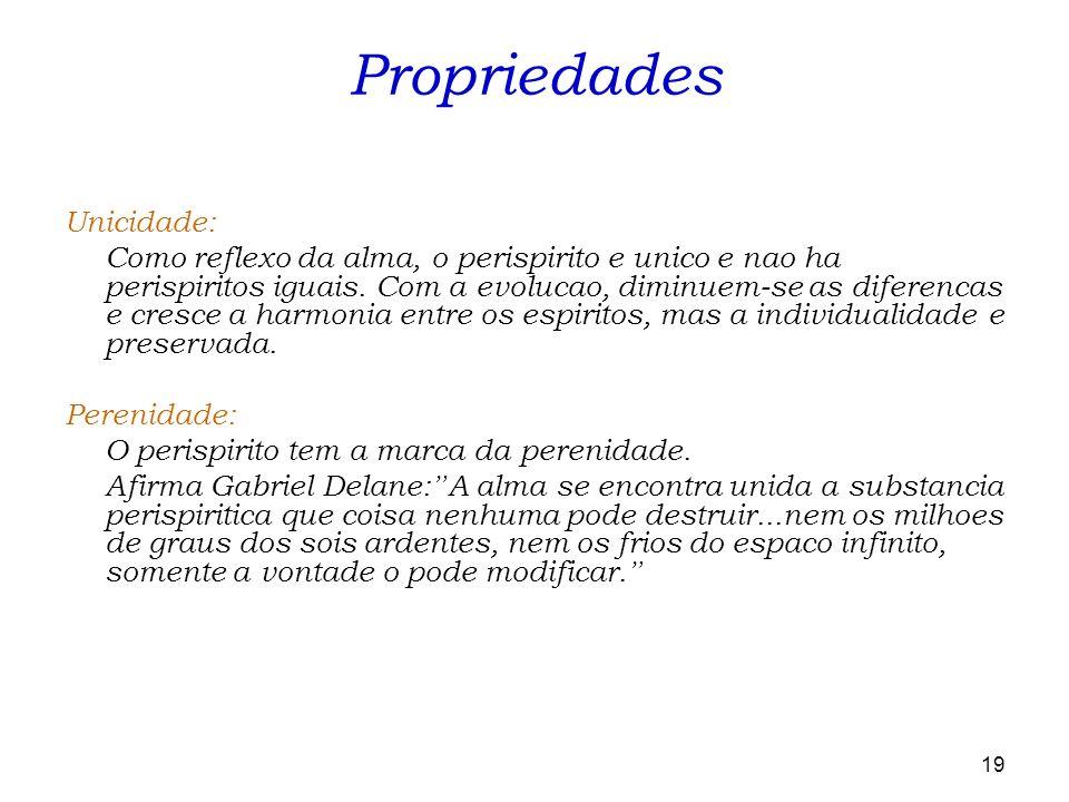 Propriedades Unicidade: